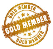 Gold member stamp — Stock Photo