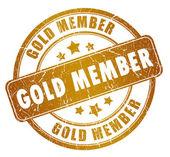 Gold lid stempel — Stockfoto