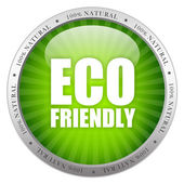 Eco friendly glass icon — Stock Photo