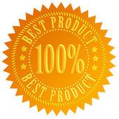En iyi ürün altın mühür — Stok fotoğraf