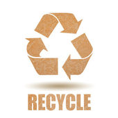 回收纸符号 — 图库照片