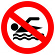 No swimming sign — Stock Vector #16316965