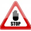 Stop vector sign - Stock Vector