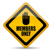 Members only vector sign, — Stock Vector