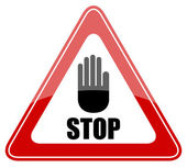 Stop vector sign — Stock Vector