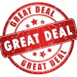Great deal stamp — Foto de stock #16822753