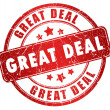Great deal stamp — Stock Photo