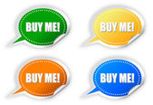 Buy me stickers set — Stock Photo