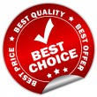 Stock Vector: Vector best choice sticker