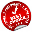 Vector best choice sticker - Imagen vectorial