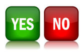 Yes and no vector buttons — Stock Vector