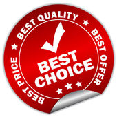 Vector best choice sticker — Stock Vector