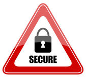 Vector secure sign — Stock Vector