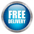 Free delivery glossy icon — Stock Photo