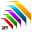 Coloured corner ribbons - Stock Vector