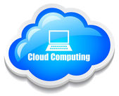 Cloud computing icon — Stock Vector