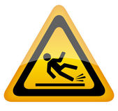 Wet floor warning sign, vector illustration — Stock Vector