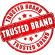 Stock Photo: Trusted brand stamp