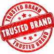 Trusted brand stamp — Stock Photo #18180079