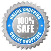 Safe online shopping emblem — Stock Photo