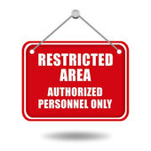 Restricted area signboard — Stock Photo
