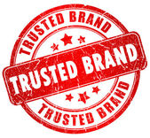 Trusted brand stamp — Stock Photo