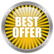 Best offer icon — Stock Photo