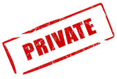 Private stamp — Foto de Stock