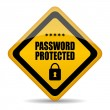 Password protected sign — Stock Vector