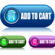 Add to cart vector buttons — Stock Vector