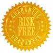 Risk free emblem — Stock Photo