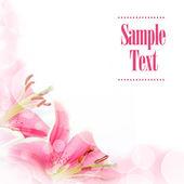 Flower greeting card — Stock Photo