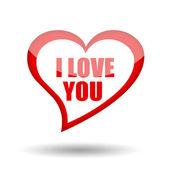 I love you symbol — Stock Photo