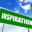 Inspiration sign — Stock Photo