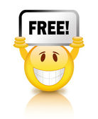 Free smiley icon — Stock Photo