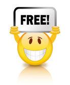 Free smiley icon — Stock Photo
