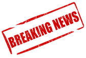 Breaking news stamp — Stockfoto