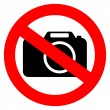 No photo camera vector sign — Stock Vector