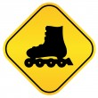 Roller skates vector sign - Vettoriali Stock
