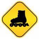 Roller skates vector sign — Stock Vector