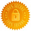 Secure lock emblem - Foto Stock