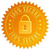 Secure lock emblem — Stock Photo