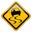Stock Vector: Vector slippery road sign