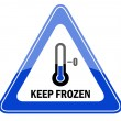 Vector keep frozen sign - Stock Vector