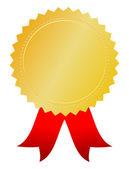 Vector gold award token — Stock Vector