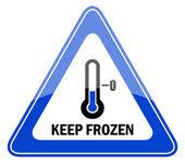 Vektör dondurulmuş işareti tutmak — Stok Vektör