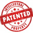 Patented stamp - Foto de Stock