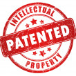 Patented stamp - Foto Stock