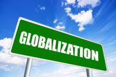 Globalization sign — Stock Photo