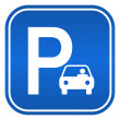 Car parking sign, vector illustration — Stock Vector